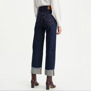 Levi's Ribcage Wide Leg Ankle Jeans